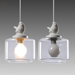 $enCountryForm.capitalKeyWord Australia - Industrial Vintage Modern Loft Pendant Light Lamp Luster Bird Designe Glass Lampshade E27 Holder Bar Lamps Restaurant Bedroom