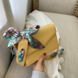 $enCountryForm.capitalKeyWord Australia - New ribbon Leather Female Shoulder Bag Solid color Women Crossbody Bag 2019 Fashion Messenger Small square package for Lady