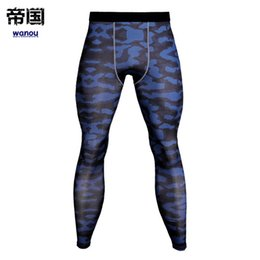 tight jogging pants UK - Men Camouflage Compression Leggings Gym Fitness Pants Running Sports Tights Jogging Trousers Male Crossfit Quick Dry Sportswear