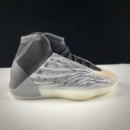 Racing boots 46 online shopping - New Quantum Kanye West Basketball Shoes Static White Mid Mens Basketball Shoes For Men Kanye West Designer Shoes Sport Sneakers Size