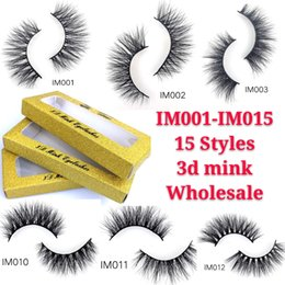 Wholesale 2019 New15 Pairs False Eyelashes Fake Lashes Natural Thick long D Faux Mink Lashes Handmade Eyelash Extension for Beauty Makeup Styles