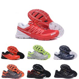 Men S Breathable Summer Shoes Australia - Wholesale Men Lightweight Hiking shoes speedcross og S-lab Sneakers red white black Sport Outdoor Breathable Summer Trainers size 40-46