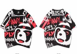 $enCountryForm.capitalKeyWord Australia - Designer mens t shirt summer fashion new cartoon panda graffiti print Cloth large size cotton hip hop Brand man womens short sleeve tee