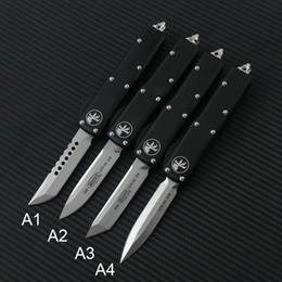MICRO Automatic MT TECH UTX 85 knife Double Action Tactical Knives Pocket knife Aluminum Handle Auto EDC tools on Sale