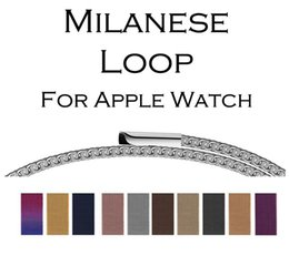 Connector Strap Australia - Band Strap 38MM 42MM Milanese Loop Magnetic Stainless Steel Watchband With Adapter Connector For Apple Watch Series 1 2 3 free epacket