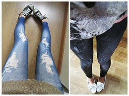 rock leggings NZ - New Women Skinny Elastic Pencil Jeans Leggings Jeggings Slim Stretchy Pants Punk Rock Rib Hole Female