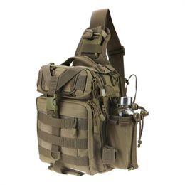 Tactical Shoulder Packs Australia - RUNATURE Fishing Tackle Bag Backpack Tactical Waterproof Multifunctional Single Shoulder Military Bag Pack Chest for Fishing #109202