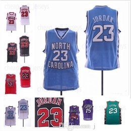 d46c15647ebe NCAA North Carolina Tar Heels 23 Michael Jersey Raptors Vince 15 Carter  Atlanta  55 Mutombo Basketball Jerseys 100% Stitched