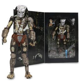 "predator figures 2019 - 7.8"" Neca Predator Ultimate 30th Anniversary Jungle Hunter Pvc Action Figure Jungle Hunter Unmasked Collectible Mod"