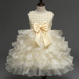 $enCountryForm.capitalKeyWord Australia - 1st Birthday Princess Pretty Ball Dresses for Babies Infant Flower Beaded Christening Gowns Pageant Baby Pearl Gown