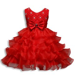 Chinese  9 Colors Flower Girl Dress Formal 3-8 Years Floral Baby Girls Dresses Vestidos Wedding Party Children Clothes Birthday Clothing manufacturers