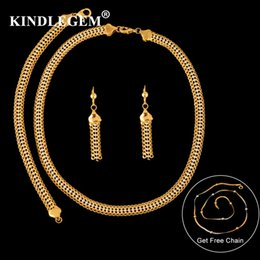 $enCountryForm.capitalKeyWord NZ - wholesale Dubai Jewelry Beads Chain Sets Wedding For Women 2018 High Quality African 24 Gold Silver Necklace Earrings Bracelet