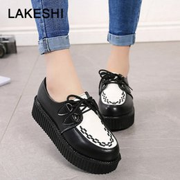 $enCountryForm.capitalKeyWord Australia - Creepers Women Shoes fashion women Flats comfort Platform Shoes Suede female Lace Up Round Toe ladies plus Size 41