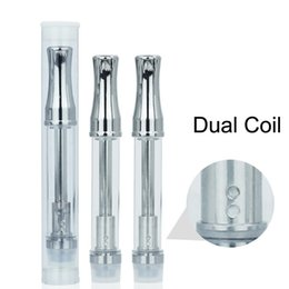 dual glasses Australia - Dual Coil 92A3 510 Thread Metal Tip Vape Glass Cartridge CE3 Vaporizer Pen E Cigarettes BUD Touch Atomizers Thick Oil Tank