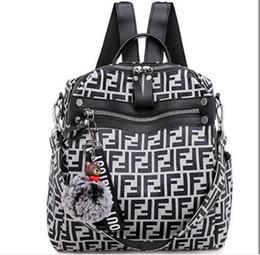 $enCountryForm.capitalKeyWord Australia - Unisex F Letter printing Backpack Fashion Casual Travel Bag handbags Couple Back pack shoulder bag Student schoolbag Computer Bags