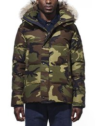 Großhandel 2019 Winter Fourrure Daunenparka Homme Jassen Daunejacke Oberbekleidung Big Fur Mit Kapuze Fourrure Manteau Canada Daunenjacke Mantel Wyn Hiver Doudoune