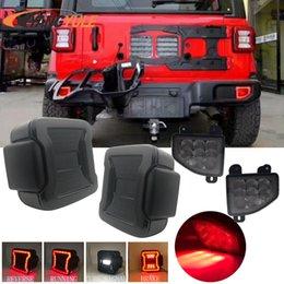 Новые США / Европейская версия светодиодной задние ламп для Jeep Wrangler JL 2018 2019 заднего фонаря + заднего бампер Тормозных огней на Распродаже