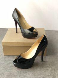 3bc19000 2019 diseñador de moda mujer zapatos de tacón alto rojo inferior alto 13 cm  niñas fiesta sexy zapatos de cuero genuino sandalias zapatos casuales  tamaño 35- ...