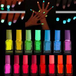 Glow dark nails polish online shopping - DIY Glow in Dark Fluorescent Neon Varnish Luminous Nail Art Makeup Polish ml