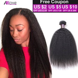 $enCountryForm.capitalKeyWord Australia - Raw Indian Yaki Straight Human Hair Bundles Indian Kinky Straight 100% Indian Human Hair Extensions Coarse Yaki Hair Bundles