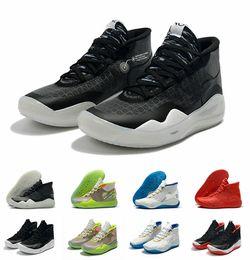 Lowest Kd Shoes Australia - 2019 Hot Mvp Kevin Durant KD 12 Anniversary University 12S XII Oreo Men Basketball Shoes USA Elite KD12 Sport Sneakers Size 40-46