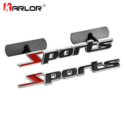 221e56980eb2f Car Side Door Decals UK - stickers decals 3D Metal Sports Front grill  Emblem Badge Door