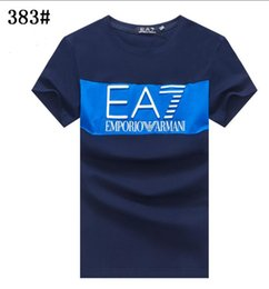 Wholesale kind print shirt online – design Street fashion men T shirt design three kinds of color choicemen Luxury Designer Brand F ARMANI Tshirt