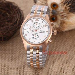 $enCountryForm.capitalKeyWord NZ - Luxury Mens Watches Automatic Mechanical 316L Steel Six-pin Pilot Series Multi-function Watch Wristwatch Montre De Luxe