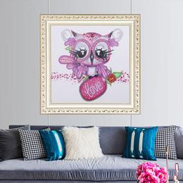 $enCountryForm.capitalKeyWord Australia - New DIY 5D Diamond Painting Kits Embroidery Cartoon Owl Cross Stitch kits living room mosaic pattern Home Decor