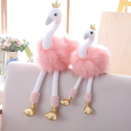 cute stuff for wholesale 2020 - 20-30cm Swan Plush Toys Cute Flamingo Doll Stuffed Soft Animal Ballet Swan with Crown Baby Kids Appease Toy Lovely Gift