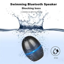 $enCountryForm.capitalKeyWord Australia - Mini Egg-shaped Bluetooth Speaker Outdoor IPX8 Waterproof Wireless Speaker 3D Stereo bass Sound System For Shower Swimming Bathroom