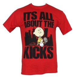 "$enCountryForm.capitalKeyWord UK - Peanuts Mens T-Shirt - ""It's All About The Kicks"" Cityscape Charlei Shoe Image"