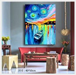 Toptan satış Soyut Tuval Baskılı Yağlıboya Sanat Resim için Gemi Çoğaltma Boyama Mutfak Oturma Odası Duvar Dekorasyonu Yok Çerçeveli