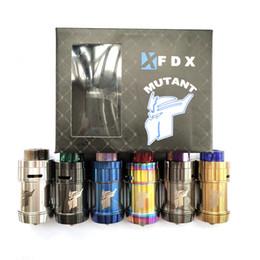 Melhor RTA 2019 FDX Mutante Malha RTA Vape Tanque Mais Barato 26mm de Diâmetro 4.0 ml Capacidade para Vape Mod Box DHL livre 100% Autêntico venda por atacado