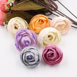 Tea Box Diy Australia - 50PCS lot Simulation Rose Artificial Flower Head Handwork DIY Wedding Decoration Bridal Accessories Diy Gifts Box Artificial Flowers
