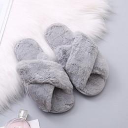 $enCountryForm.capitalKeyWord Australia - Winter women Fur slippers Non slip Wear resistant Indoor shoes for female Soft Velvet Plush House slippers women