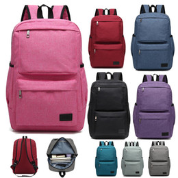 $enCountryForm.capitalKeyWord Australia - 2019 Wholesale Backpack Travel Sports outdoors Men and women canvas bags Schoolbag Durable 16 inches Computer package Grey Black Blue P067