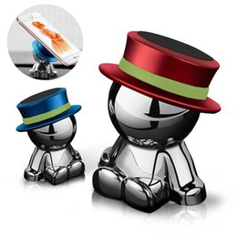 Phone Holder Boxes Australia - Magnetic suction Phone Mount Holder 360Degree Rotation Crazy Doll Hat Heavy Metal Stand car Phone Bracket for iphone samsung with retail box