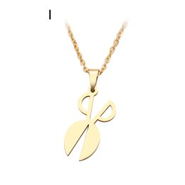 scissors pendant necklace NZ - New Brand Genuine Stainless Steel Necklace For Women Man Scissors Sharp Choker Pendant Necklace Engagement Jewelry Girl Bridal Wedding