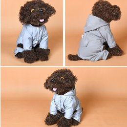 water proof coatings Australia - Dog Raincoat Adjustable Pet Water Proof Clothes Lightweight Reflective Dog Trench