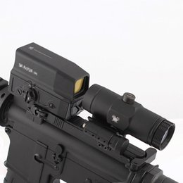 Tactical UH-1 Holographic Red Dot Scope and VMX-3T Magnifier Combo Hunting Rifle 3x Magnification Sight with Switch to Side STS Mount