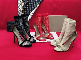 Dress Up Net NZ - Squeezed for spring and summer 2019 premium lace net + sheep weaver sexy stiletto for lady sandal squeezed with squeezed water for complete