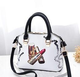 $enCountryForm.capitalKeyWord Australia - New Design Korean Version of sweet Lipstick Pattern PU Leather Handbag Bags Ladies Fashion Shoulder Bags Purses for Womens