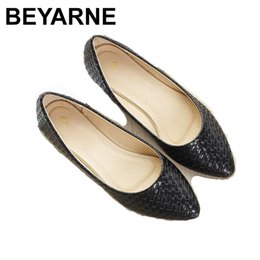 Discount best men loafer shoes BEYARNEWomen's Boat Shoes Ballet Flats Ladies Slip-on Casual Loafers Women Sexy Elegant Basic Pointy Wedding Party