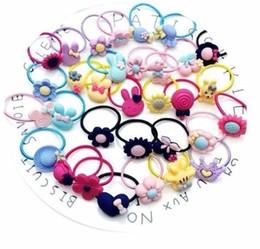 $enCountryForm.capitalKeyWord Australia - 10pcs lot Mini Headdress Elastic Bands Ponytail Holder Cotton Hoop Headband Candy Ring Rope Girls Hair Accessories