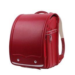 NEW Orthopedic School Bag Children Backpack For Boy And Girl For Kid high  quality PU Hasp Japan Randoseru Kid book Bag Love gift Y18120601 1f4f3ee537