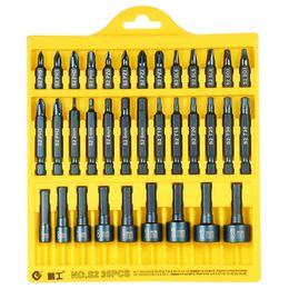 Комплекты ключей Penggong Электрическая отвертка 35 шт. 25 мм / 50 мм Проползанные Torx Hex Bits Разъемы Набор инструментов для ремонта привода на Распродаже