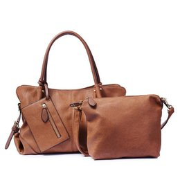 $enCountryForm.capitalKeyWord Australia - Three Pieces Women Leather Handbag Large Hobos Single Shoulder Bag Luxury Female Fashion Bag Set Black Green Color Wholesale #193693