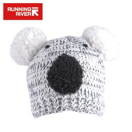 Little Hats Australia - RUNNING RIVER Brand Ski Cap Little Bear Hat For Women Thermal Cute New Style 2016 Free Size Skiing Hat For Female #Y4760