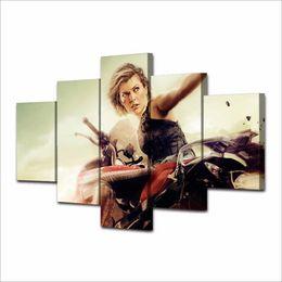 Hd Digital Frame UK - Resident Evil - Chapitre Final,5 Pieces Home Decor HD Printed Modern Art Painting on Canvas (Unframed Framed)